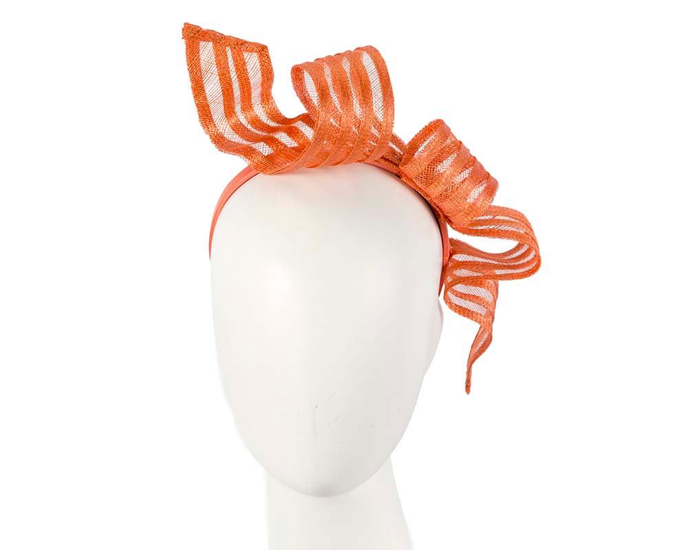 Stylish orange racing fascinator by Max Alexander