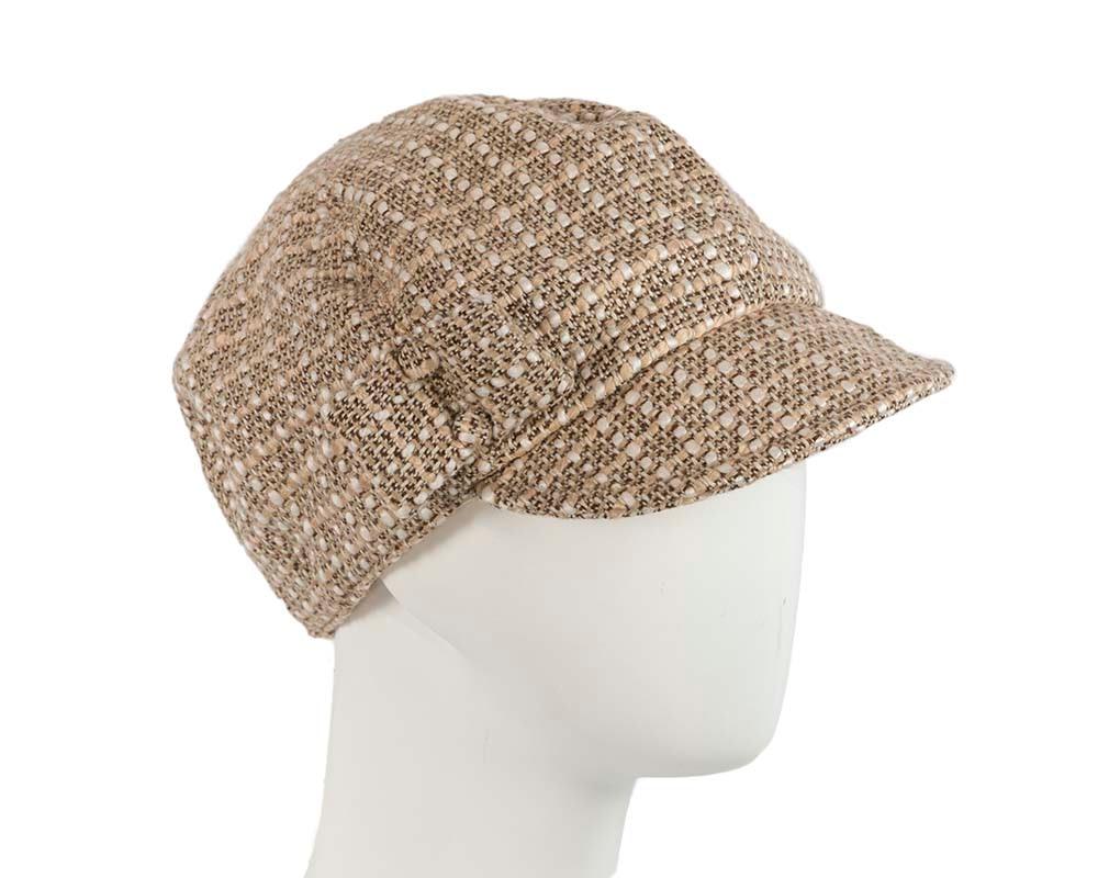 Fleecy Beige winter ladies fashion newsboy beret hat Max Alexander