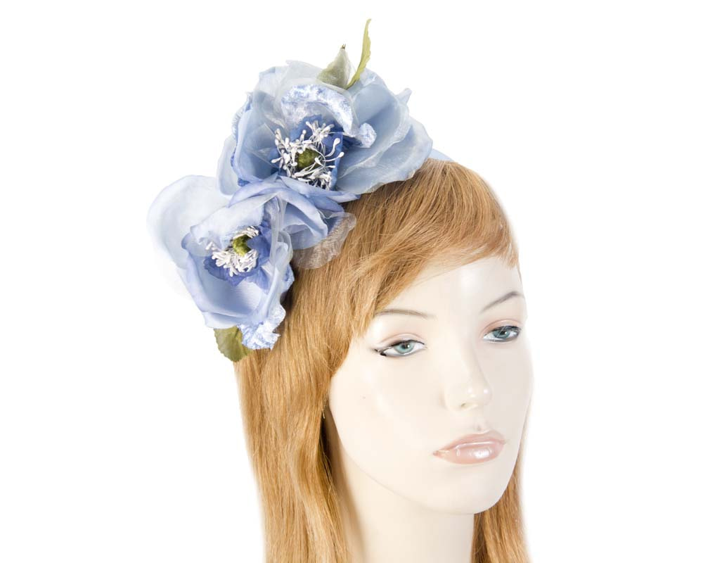 Light blue silk flower crown