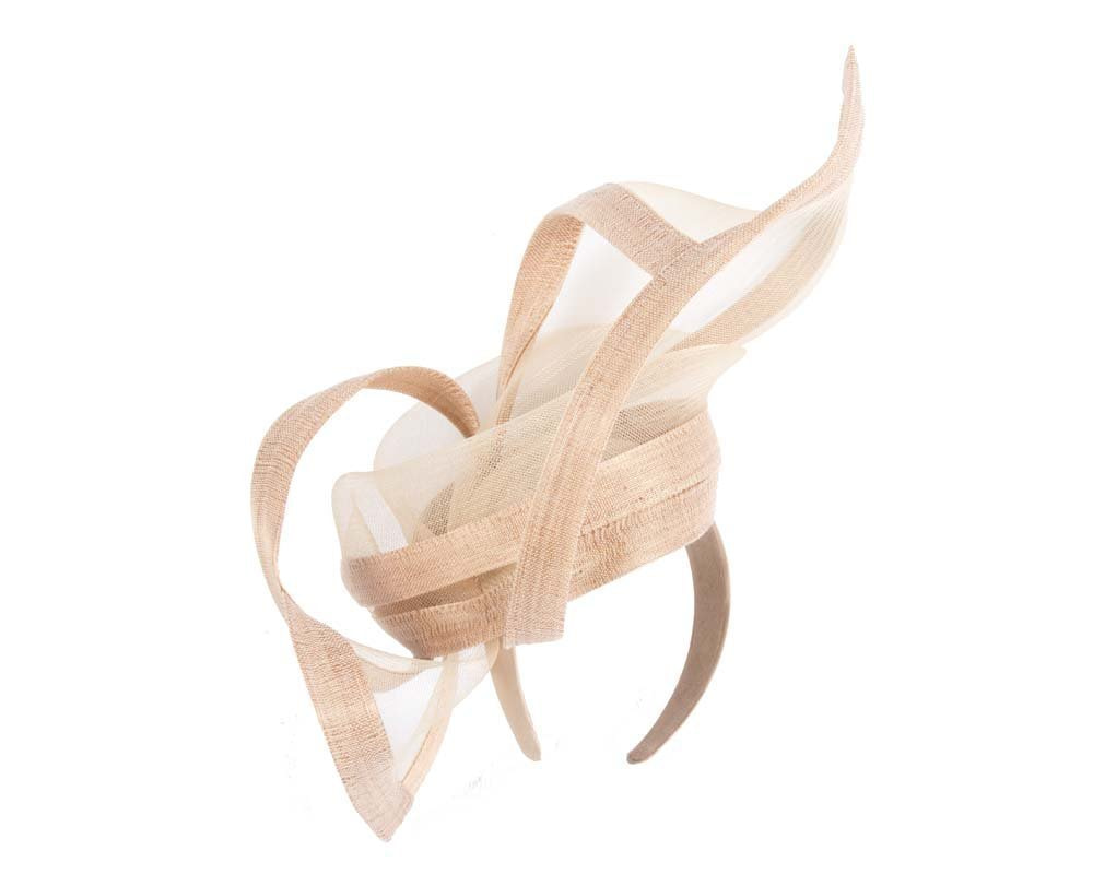 Nude edgy racing fascinator by Fillies Collection