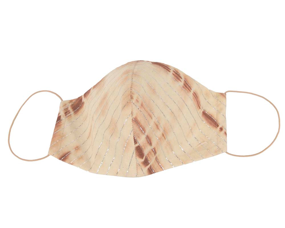Comfortable re-usable beige face mask