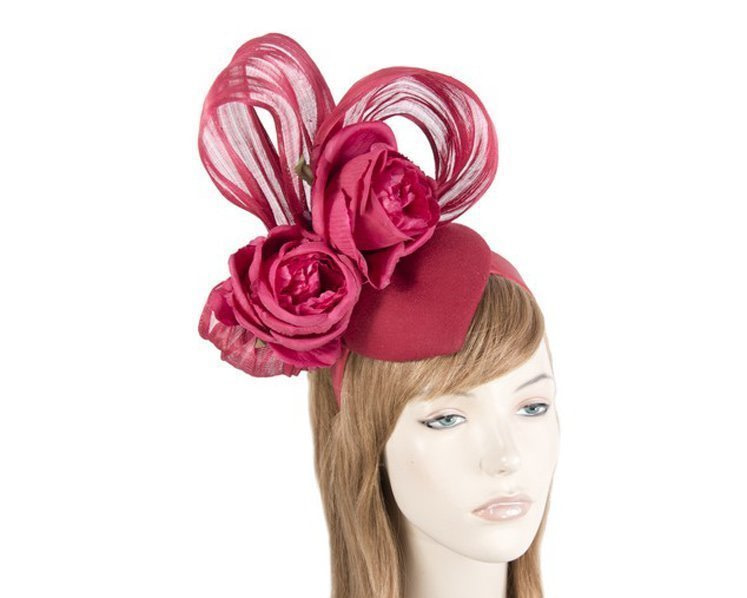 Bespoke Red Winter fascinator