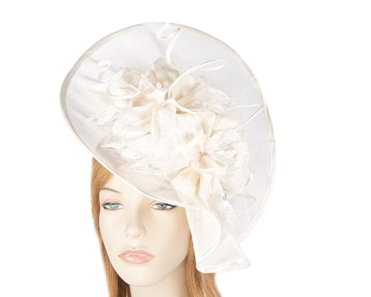 Cream spring racing hat by Fillies Collection