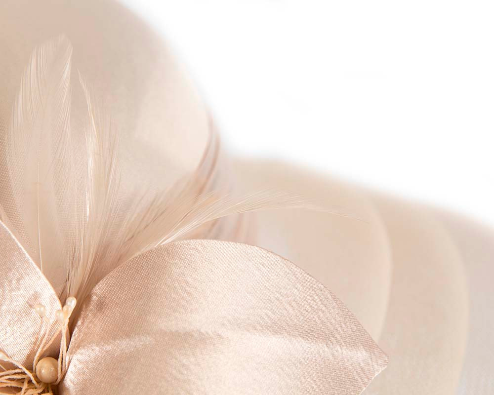 Champagne gold custom made mother of the bride hat