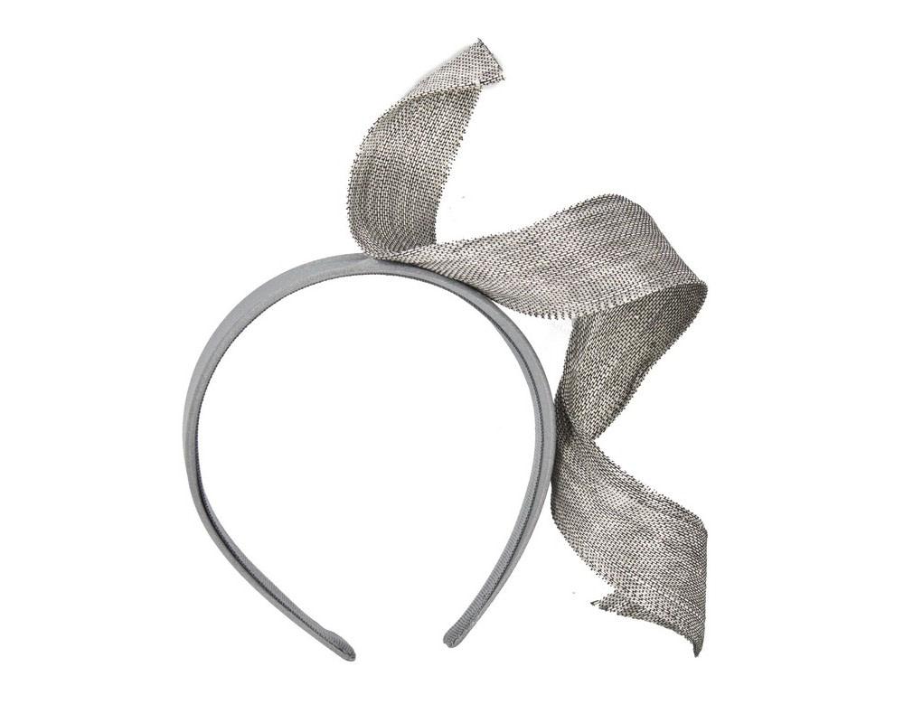 Silver twist fascinator headband