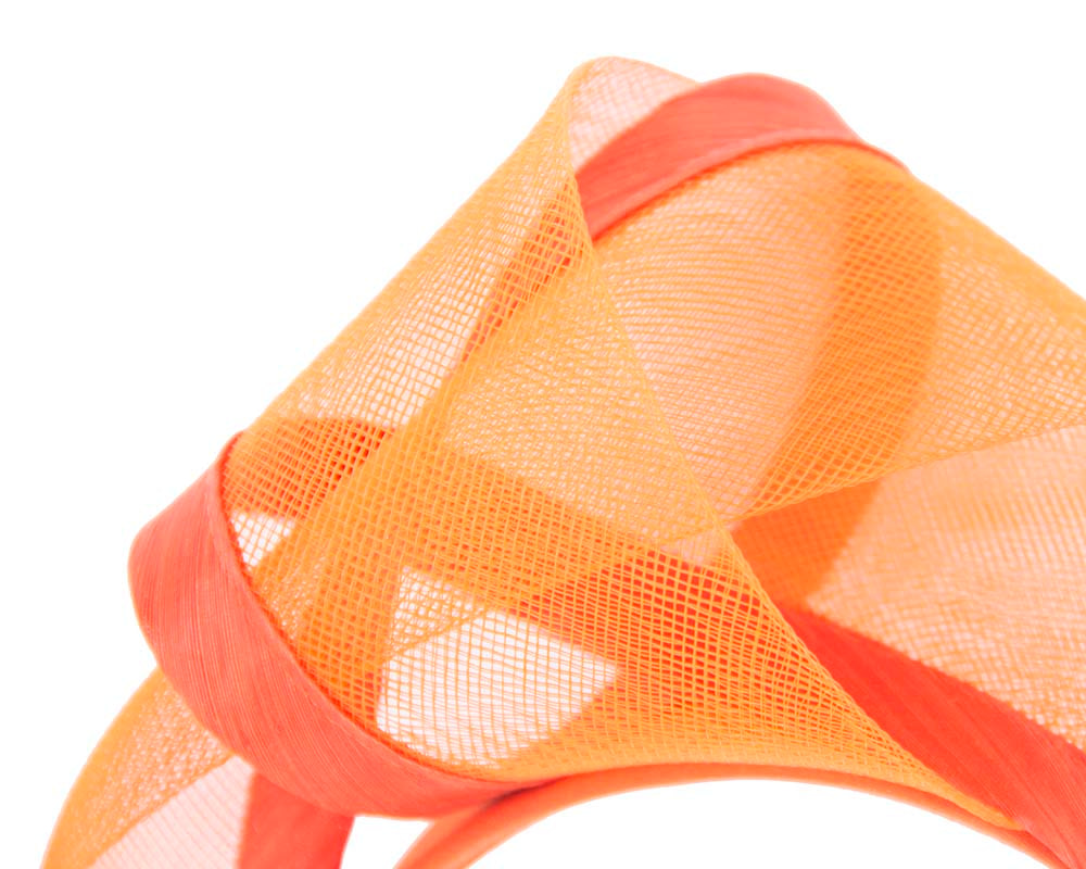 Orange fashion headband turban by Fillies Collection