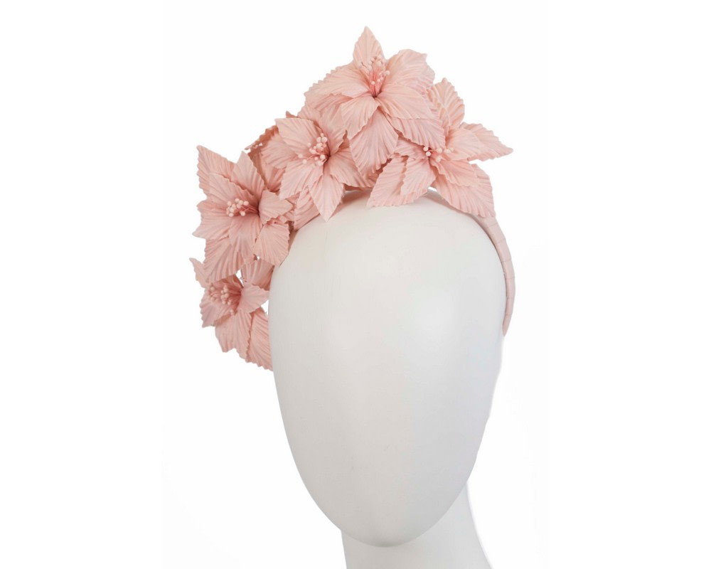 Blush sculptured flower headband fascinator by Fillies Collection