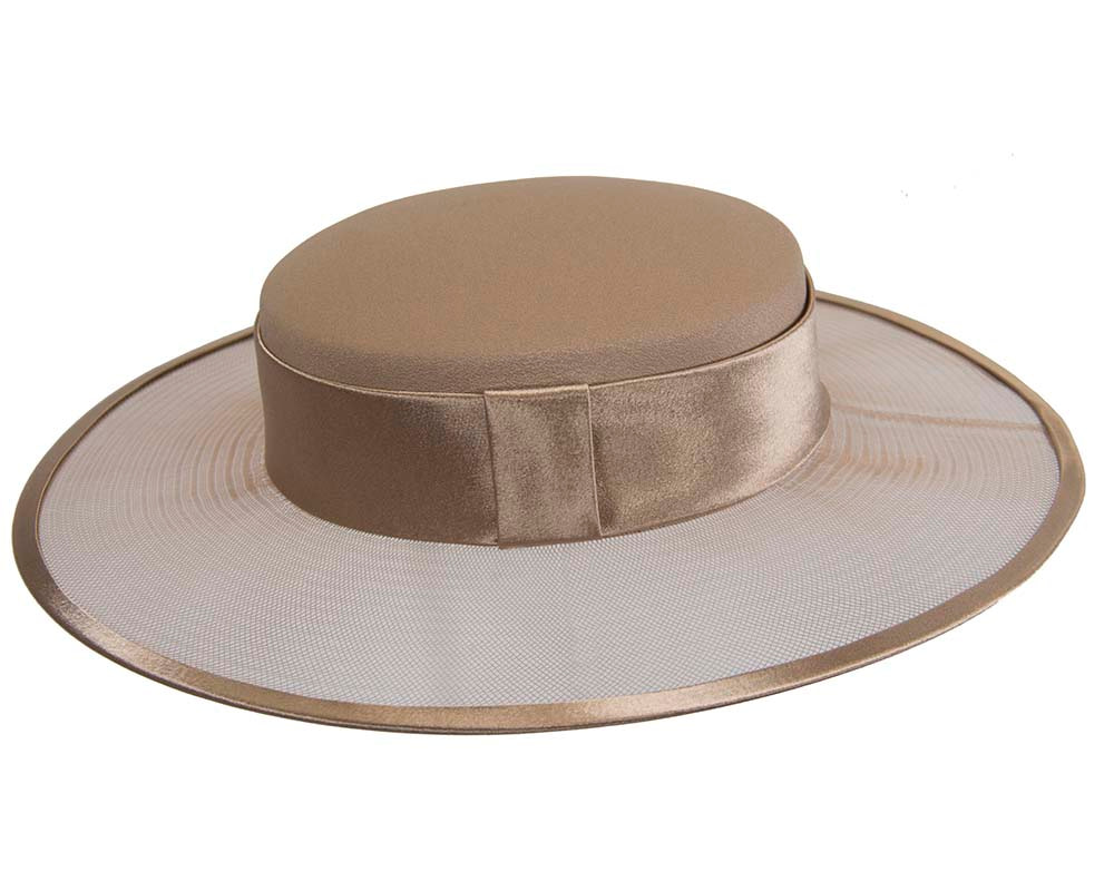 Buff designers boater hat