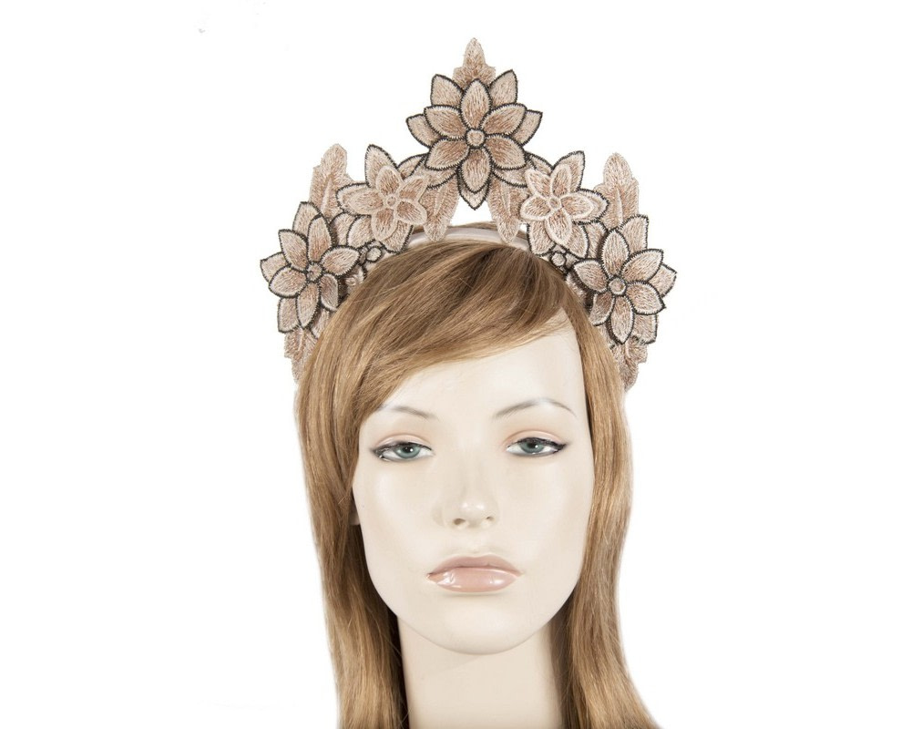 Nude crown fascinator
