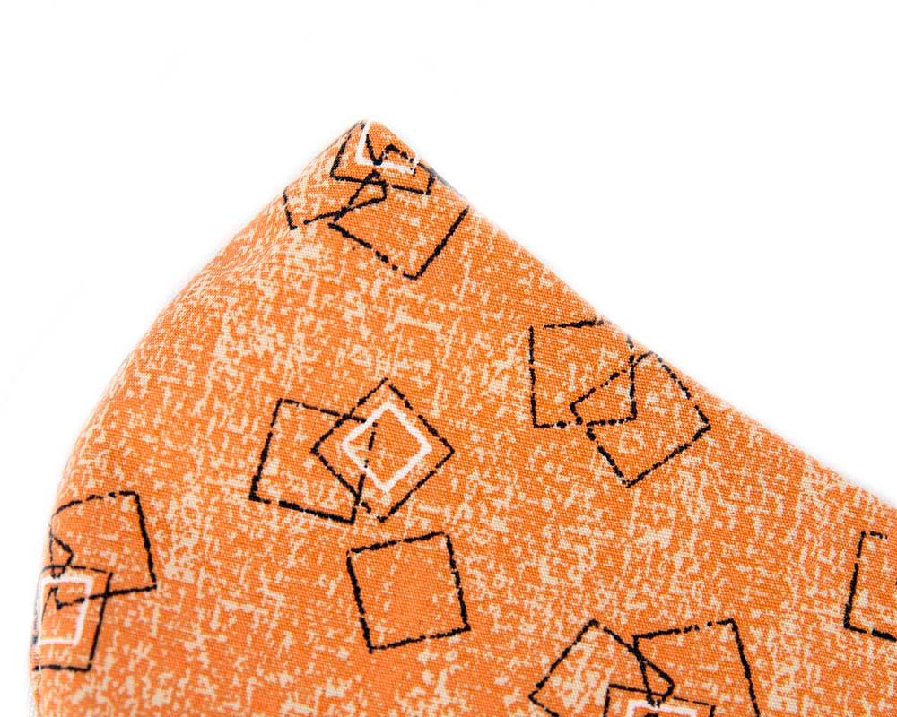 Comfortable re-usable orange cotton face mask