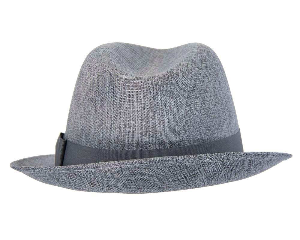 Grey mens summer fedora hat