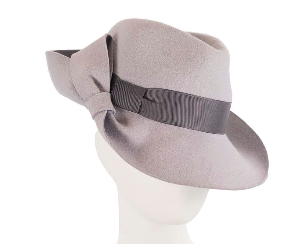 Designers wide brim fedora hat by Cupids Millinery