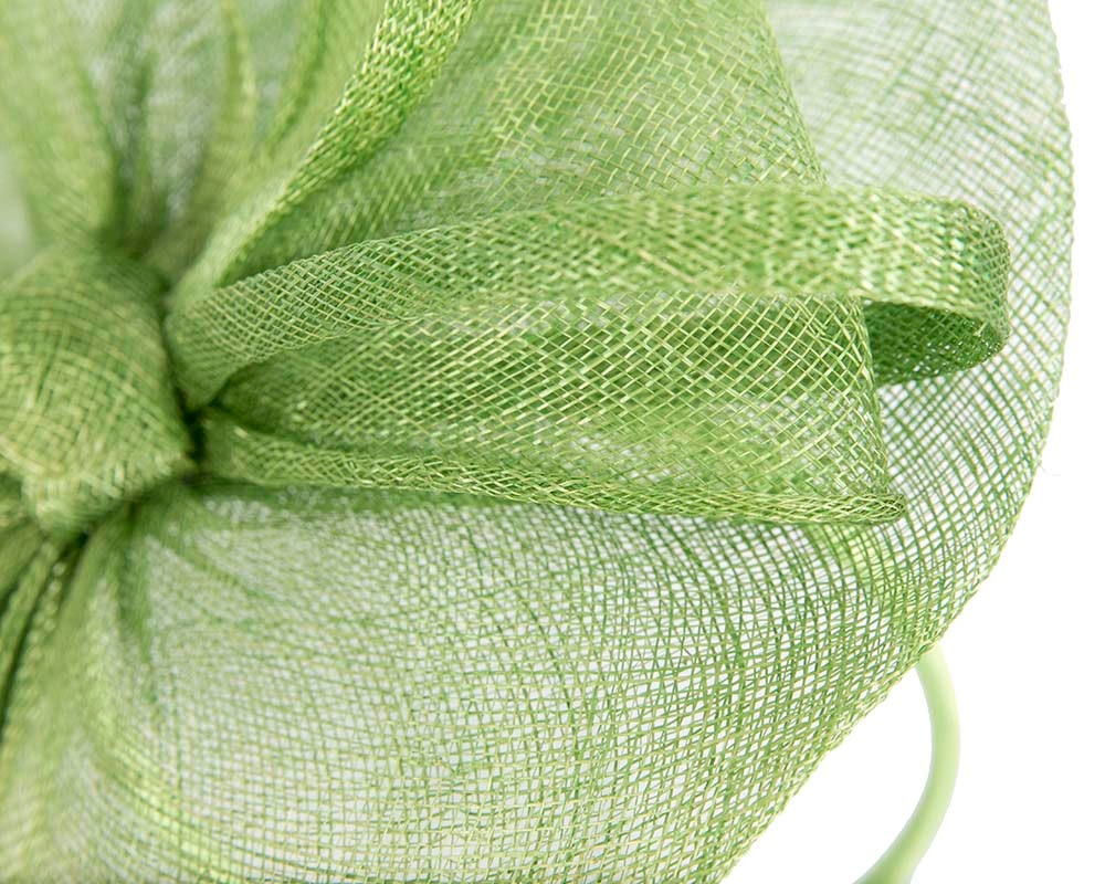 Green fascinator by Cupids Millinery Melbourne