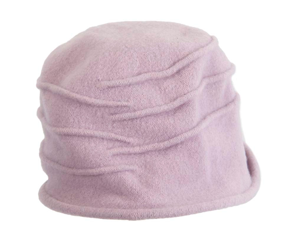 Warm lilac winter bucket hat by Max Alexander