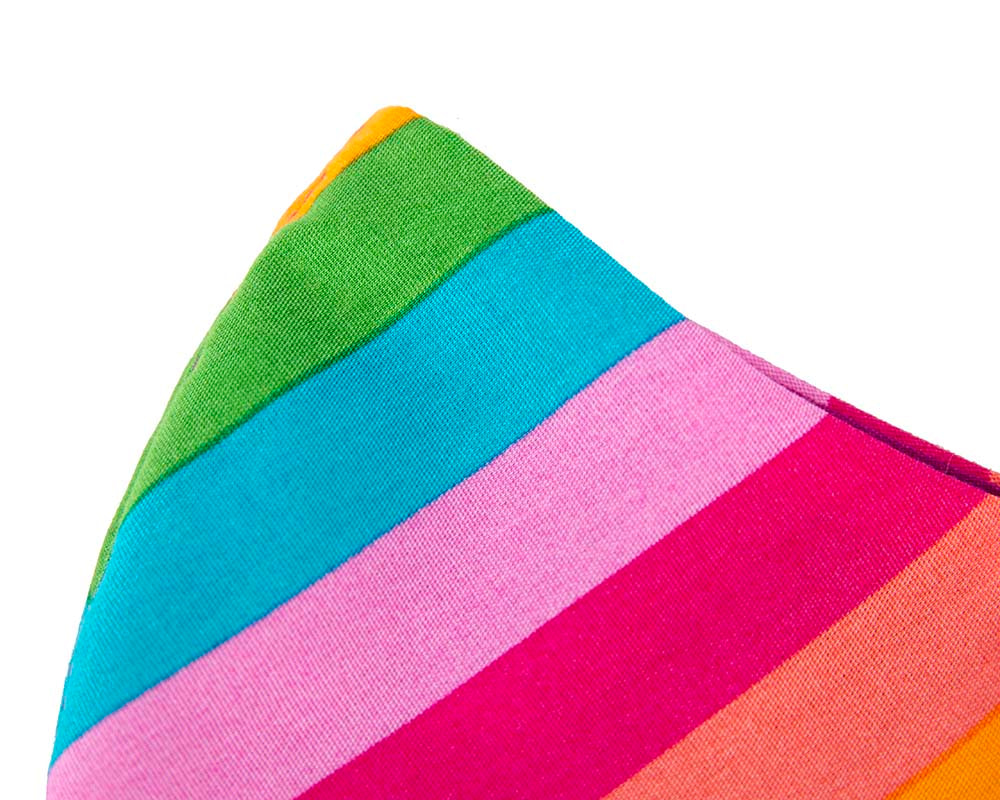 Comfortable re-usable cotton face mask with rainbow