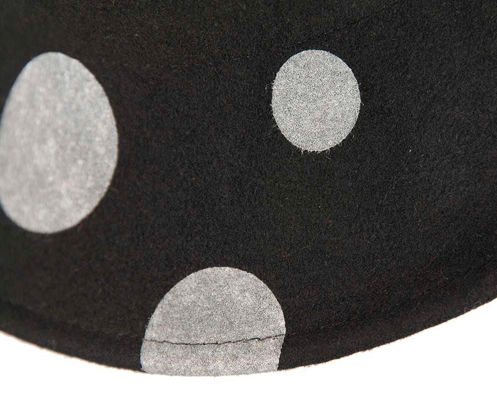 Designers wide brim winter cloche hat by Cupids Millinery