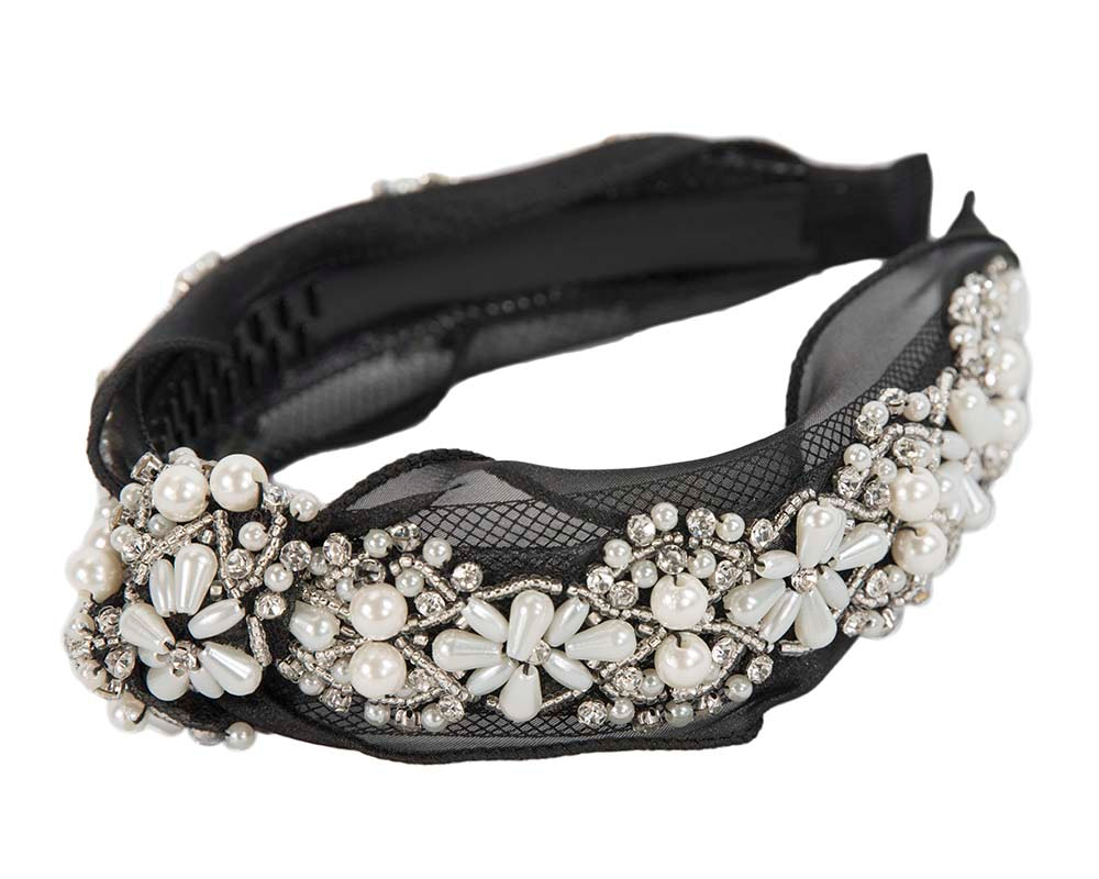 Black headband with jewellery