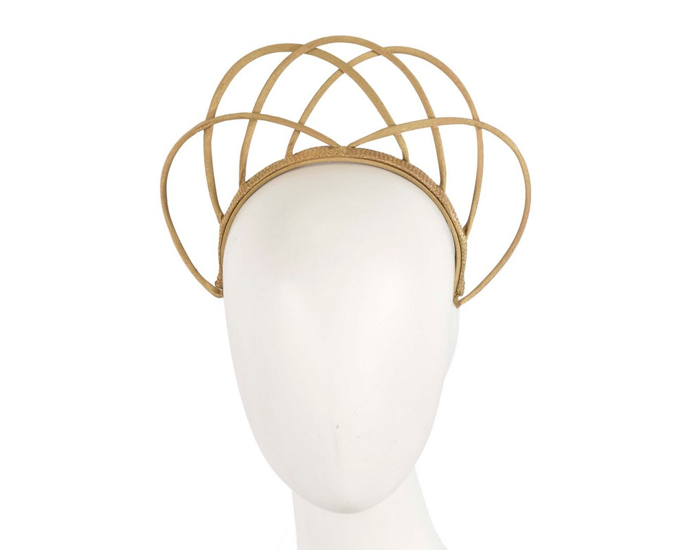 Designers gold crown fascinator by Max Alexander