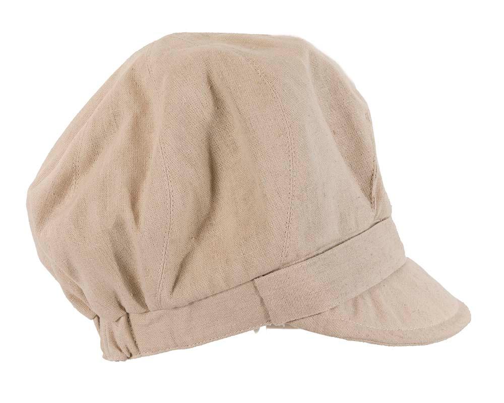 Beige ladies casual newsboy cap hat