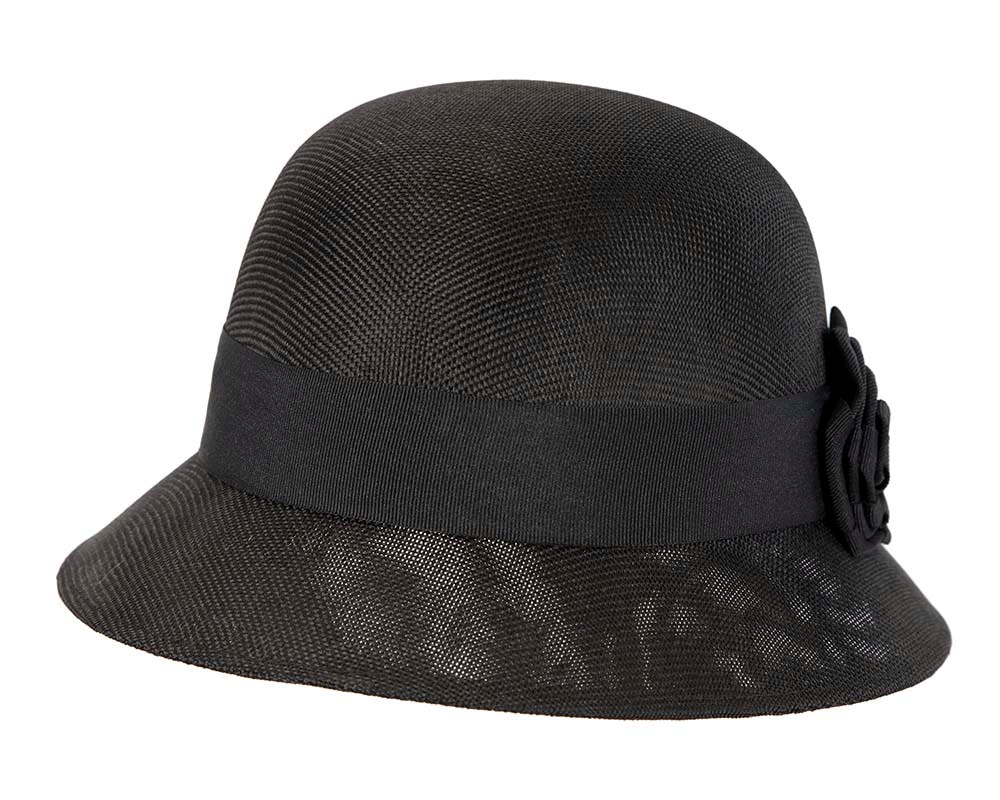 Black cloche hat by Max Alexander