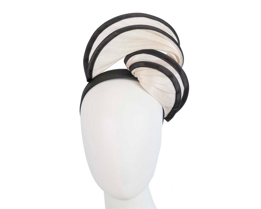 Cream & black headband racing fascinator by Fillies Collection