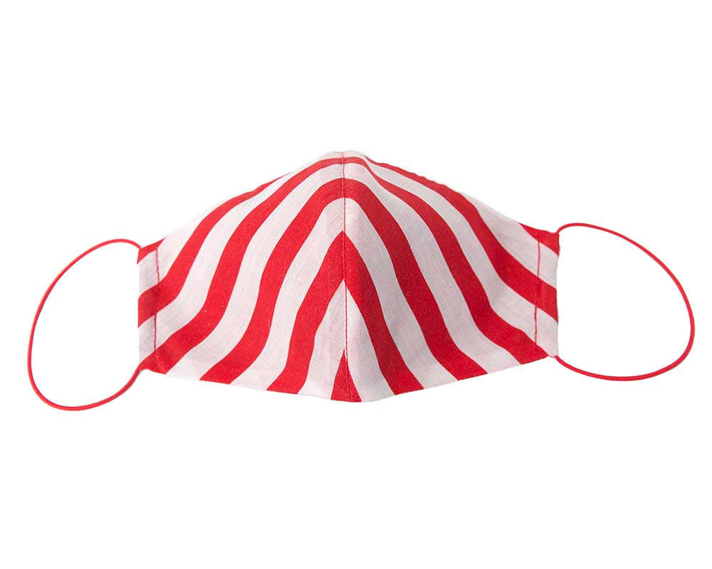Comfortable re-usable red stripes cotton face mask