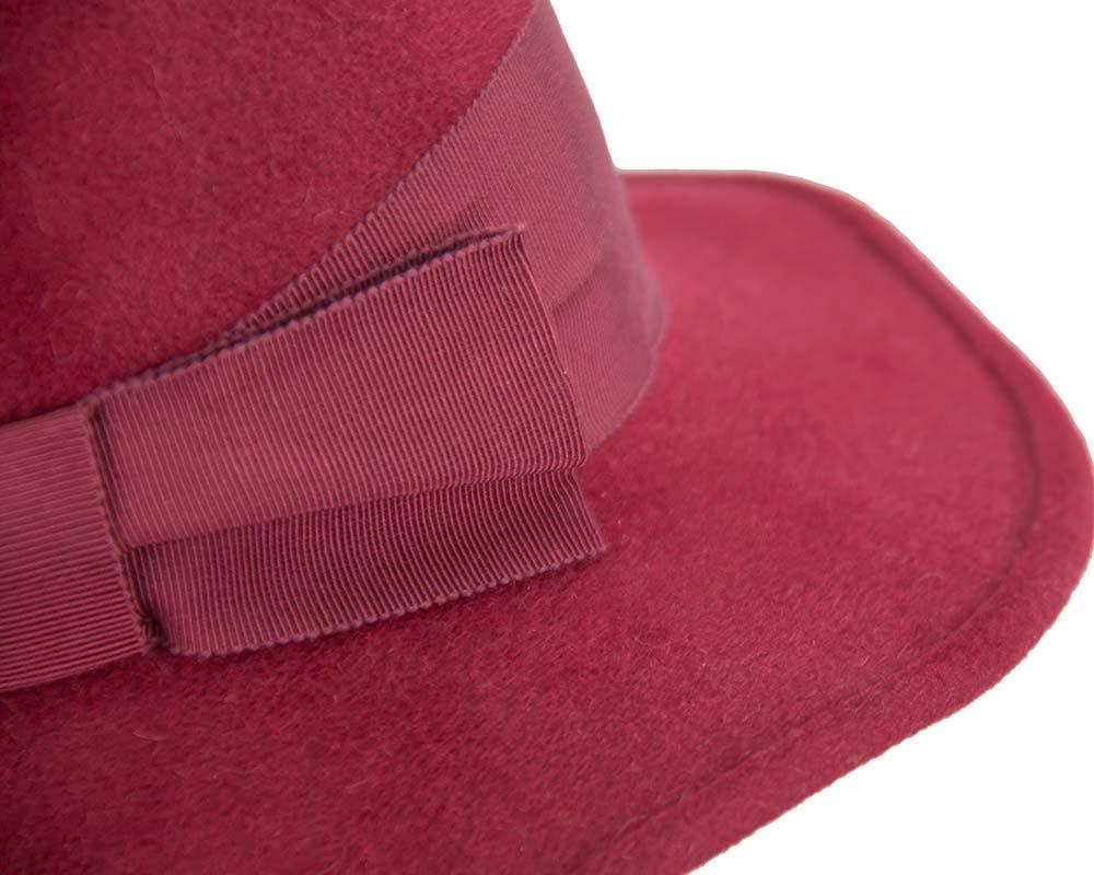 Exclusive red rabbit fur hat