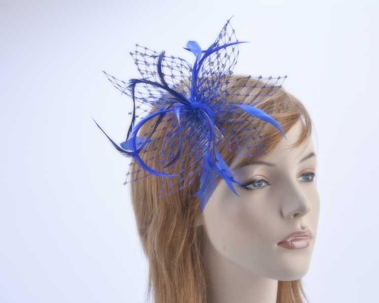 Royal blue fascinator headpiece
