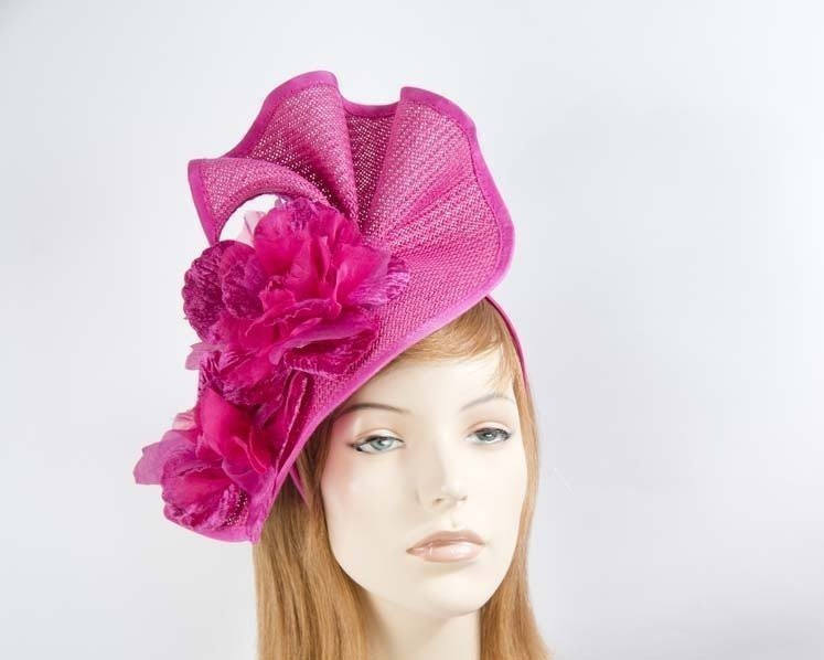 Fuchsia Melbourne Cup races fascinator by Fillies Collection