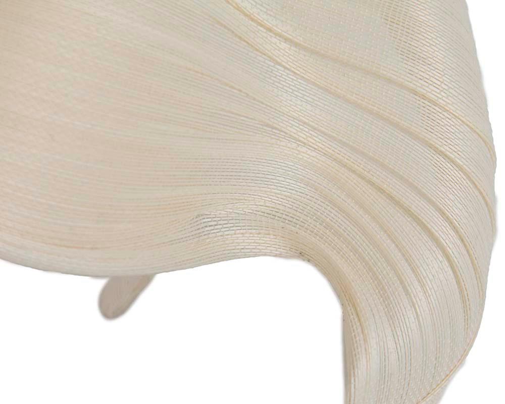 Large cream bespoke Jinsin racing fascinator by Fillies Collection