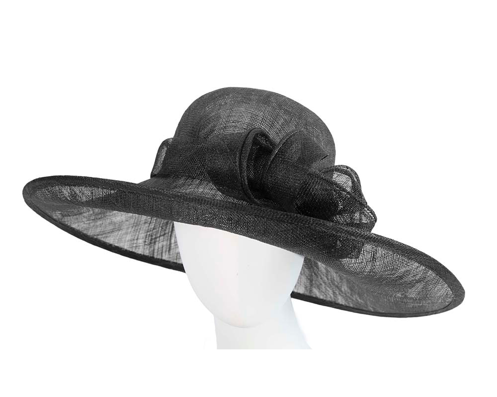 Large black racing hat by Max Alexander