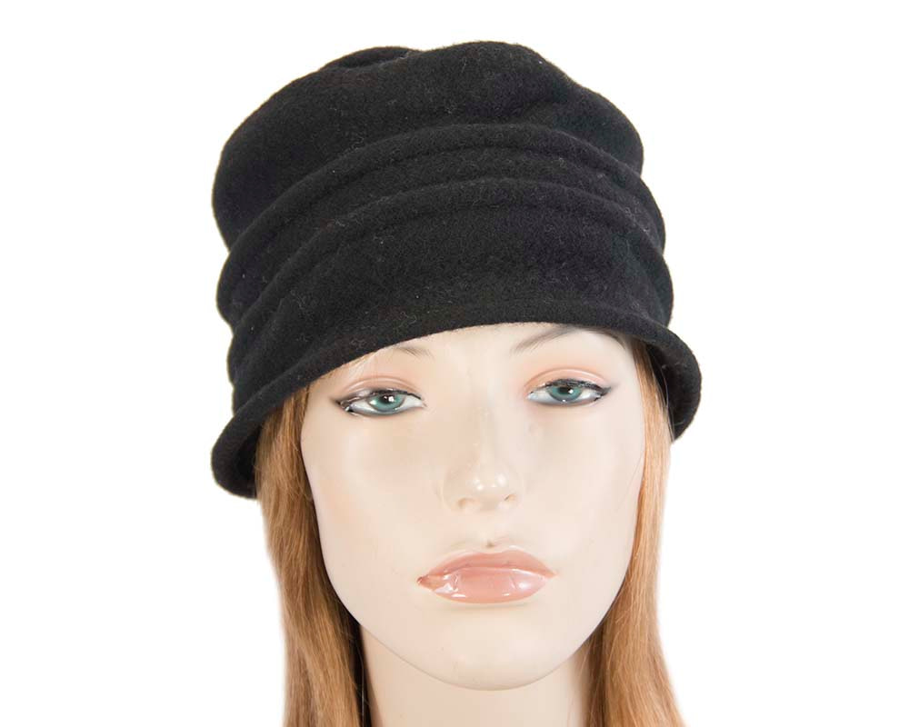 Warm black winter bucket hat by Max Alexander