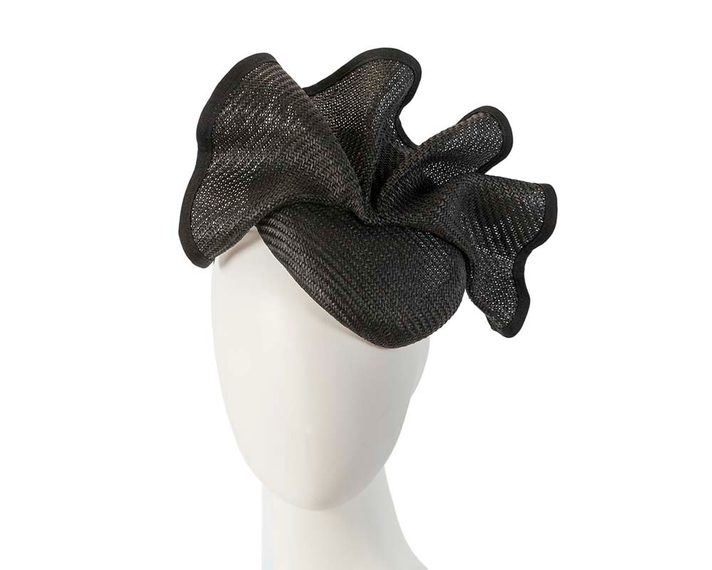 Made in Australia black pillbox racing fascinator by Fillies Collection S165B