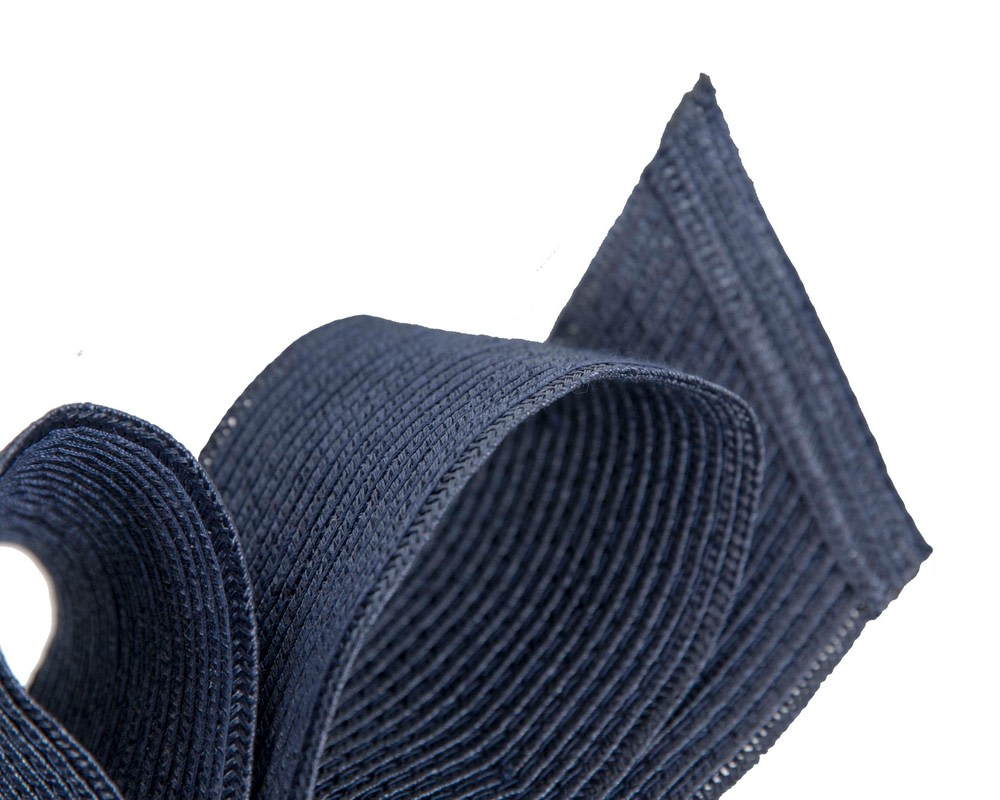 Large navy bow racing fascinator by Max Alexander