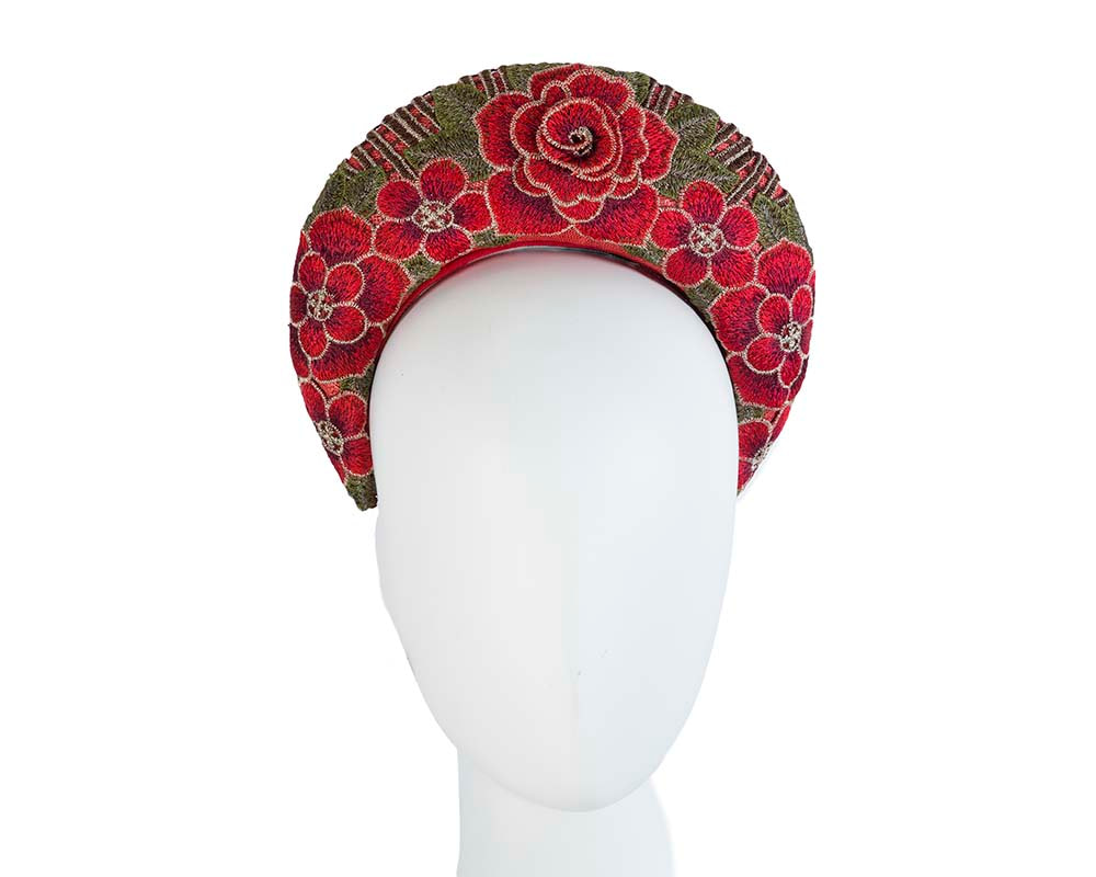 Exclusive red headband by Cupids Millinery