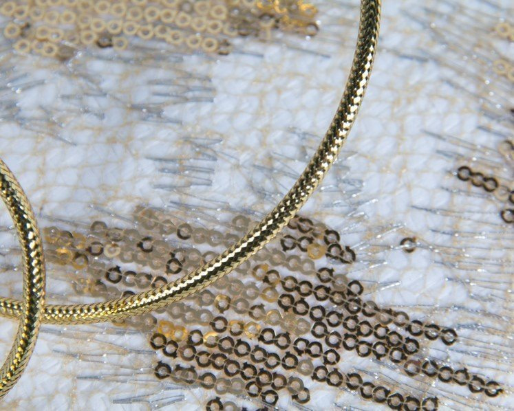 Bespoke designers cream & gold fascinator