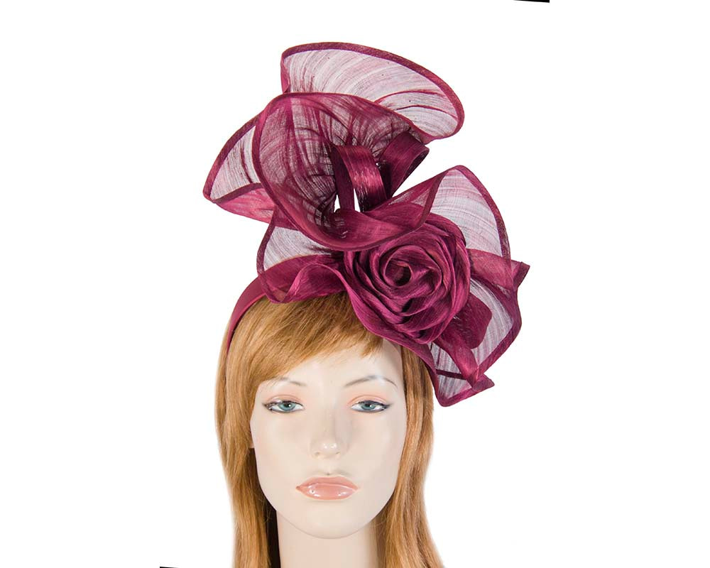 Twisted wine designers fascinator by Fillies Collection