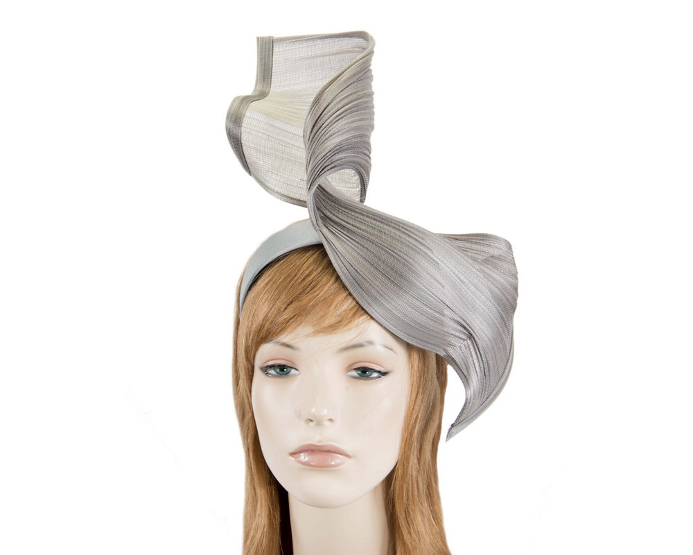 Large silver bespoke Jinsin racing fascinator by Fillies Collection