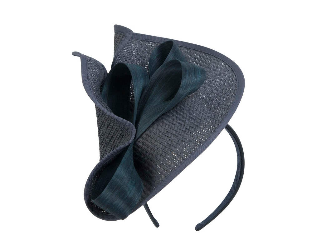 Large navy Fillies Collection racing fascinator with bow