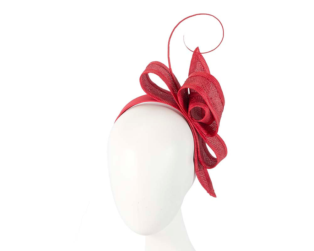 Red bow Max Alexander fascinator by Max Alexander