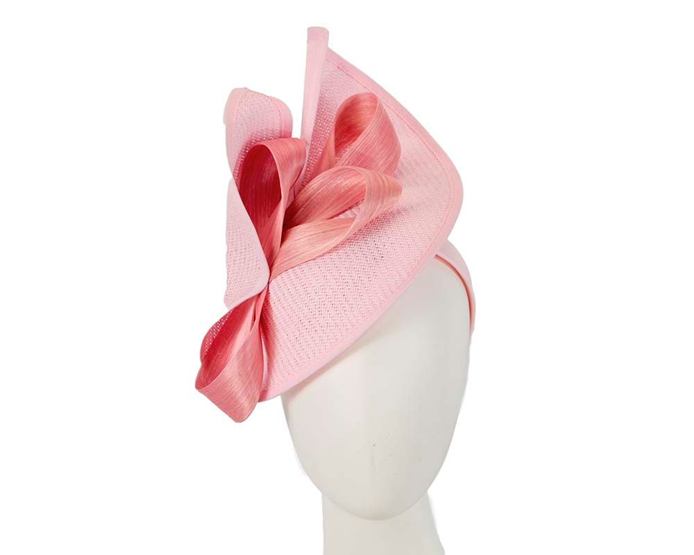 Large pink Fillies Collection racing fascinator with bow