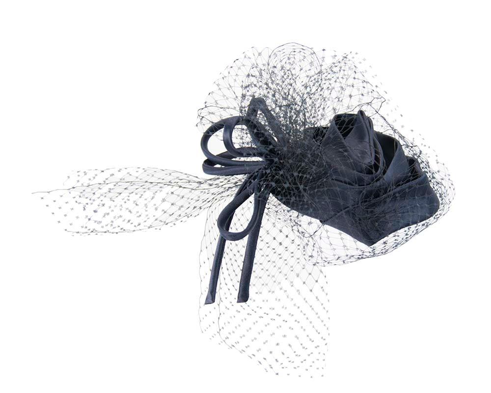 Navy Cocktail Headpiece with veil