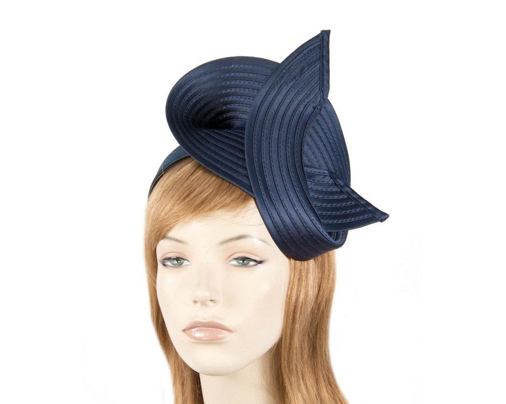 Navy swirl fascinator