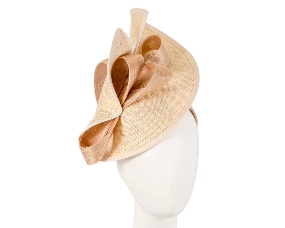 Large nude Fillies Collection racing fascinator with bow