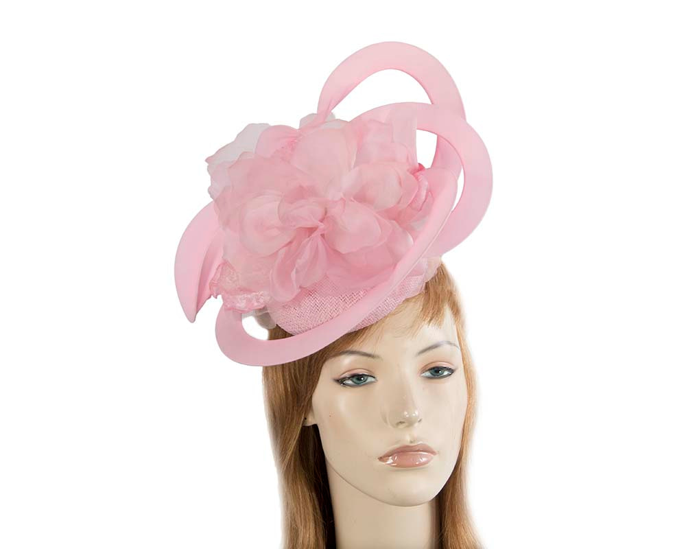 Unusual pink Fillies Collection fascinator with flower for Melbourne Cup S155SP