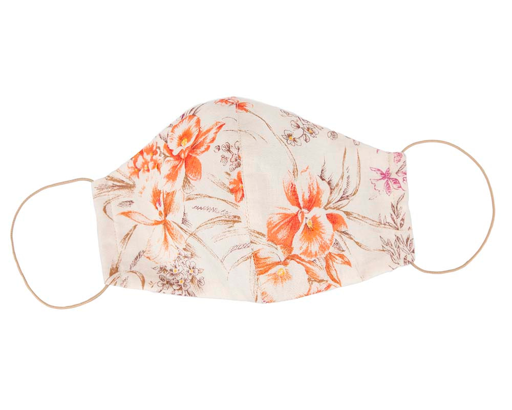 Comfortable re-usable face mask with floral pattern