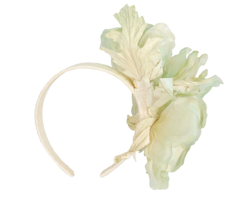 Light green flower fascinator by Fillies Collection