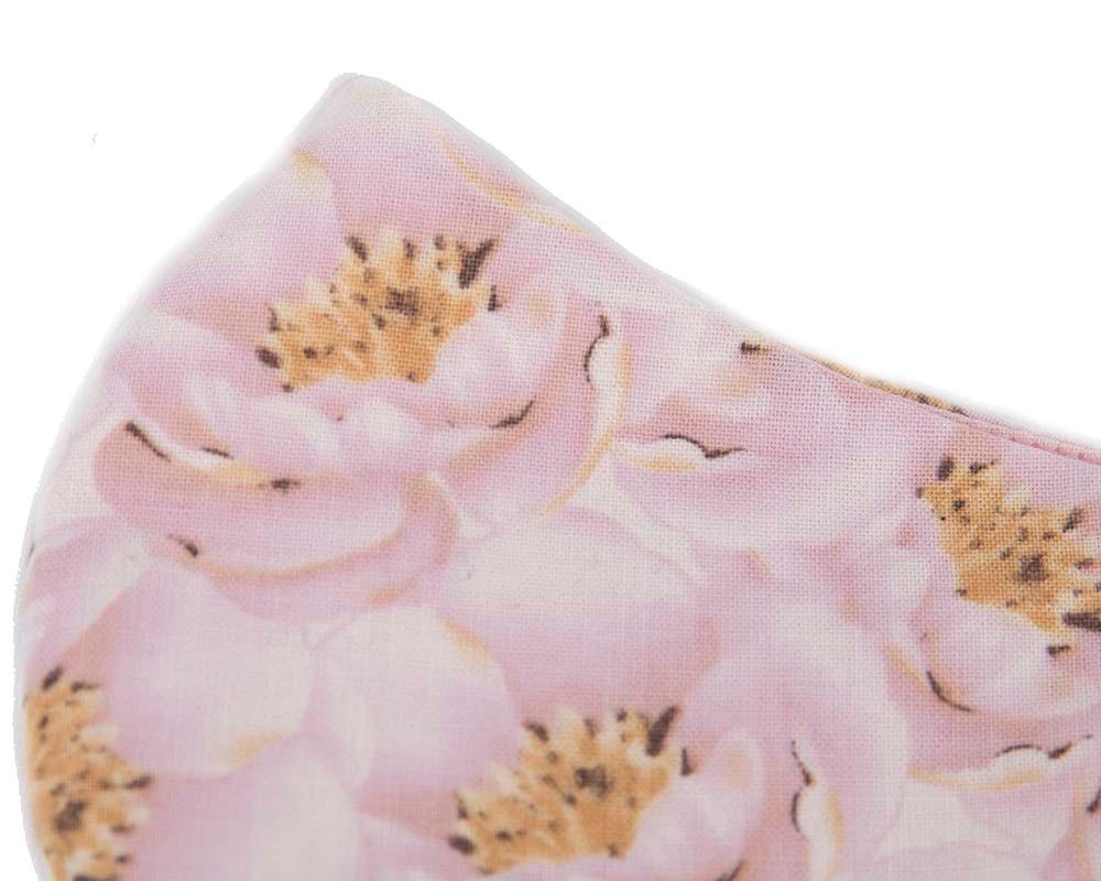 Comfortable re-usable cotton face mask magnolia flowers