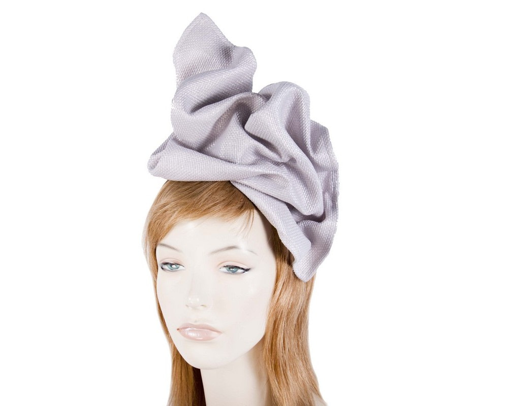 Silver tailored fascinator