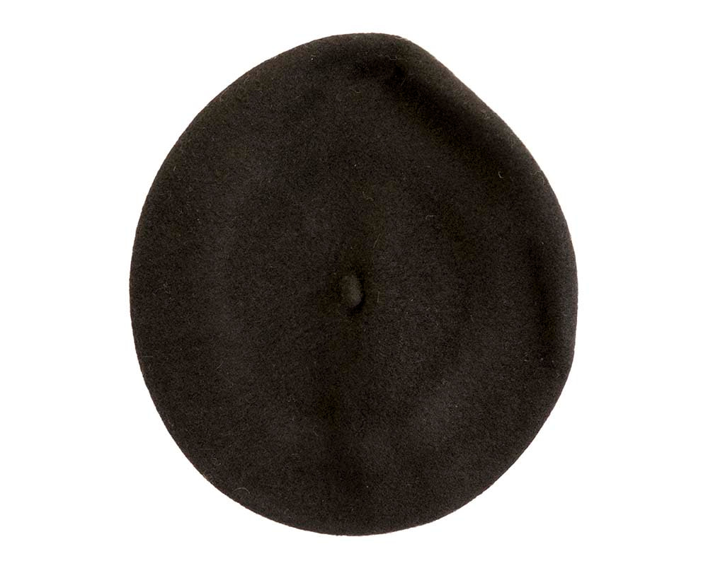Black wool WOOLMARK french beret